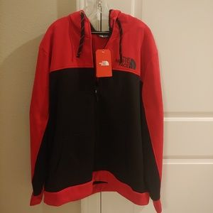 The North Face Sweater Hoodie Red Black XXL